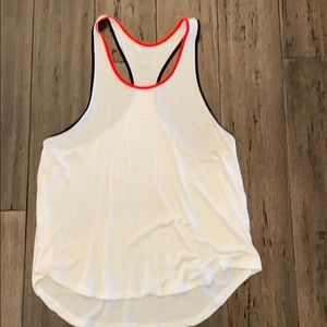 Splits59 white tank w/ red and navy detail